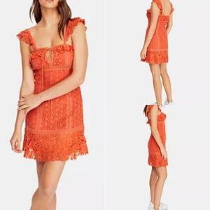 NWT Free People Cross My Heart Mini Dress